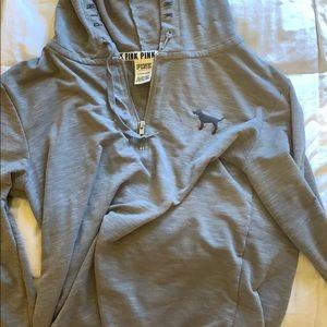 Pink' GREY hoodie